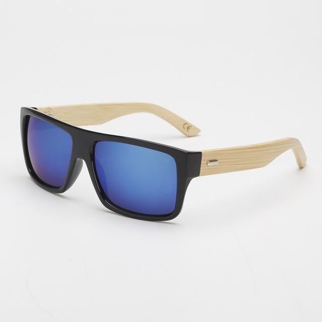 Retro Bamboo UV400 Sunglasses