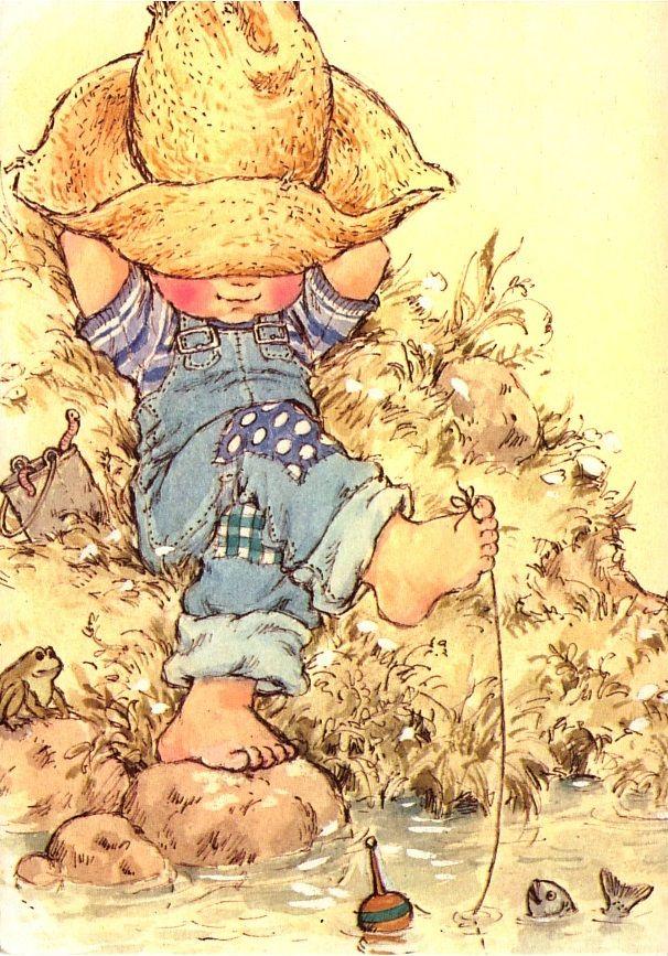 """Sarah Kay - Illustration de la couverture de l'album en Français """"Dans les nuages"""" - version 1 pour les garçons"""