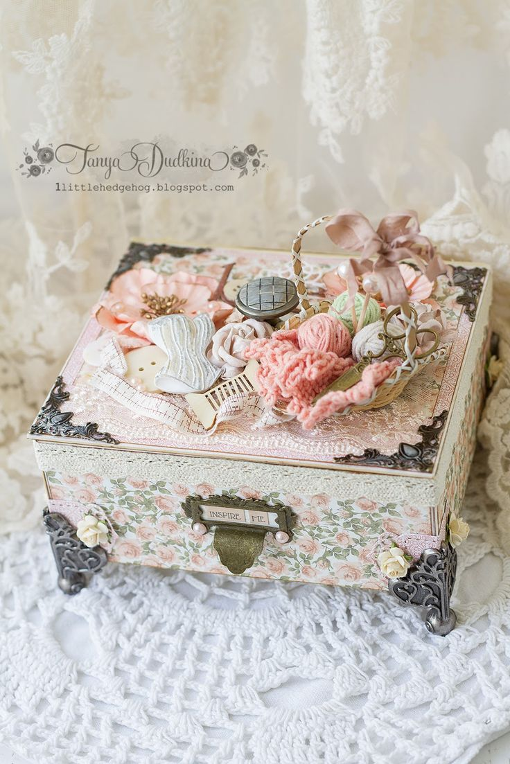 "Inspiration: Casket ""Sewing"" / Sewing Box"