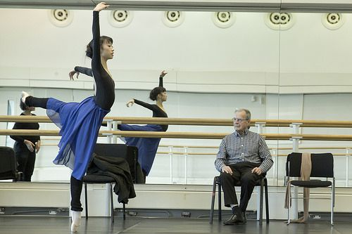 Lesley Collier, Akane Takada as Giselle and Peter Wright in rehearsal for Giselle, The Royal Ballet © 2016 ROH. Photo by Andrej Uspenski -
