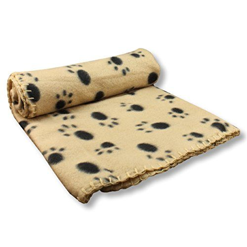 Dog Bed Liners - Dog Blanket  Comfy Soft Fleece 39 x 27  Whipstitch Edge detail with Paw Print Pattern *** Be sure to check out this awesome product. (This is an Amazon affiliate link)