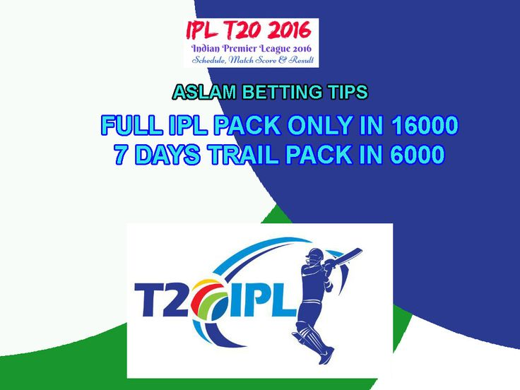 IPL BETTING TIPS PACK - ipl betting tips find here for all matchs:- http://www.aslambettingtipsfree.com/ipl-betting/