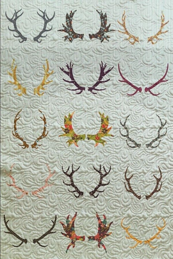 With Stitched quilts there are almost infinite ways to make custom quilts. Here is a whimsical design using antlers to make the perfect finishing touch to any room. Use our customizer to make it to or