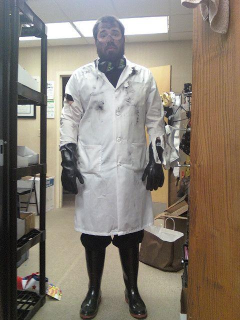 Post-Explosion Mad Scientist Costume