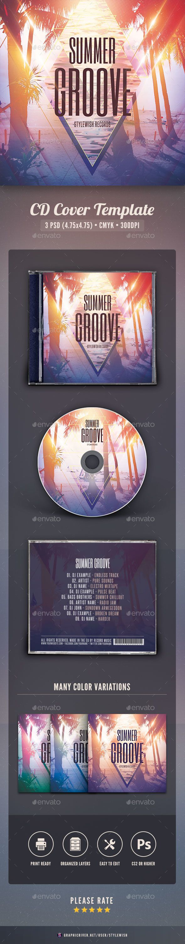 66 best CD Jackets images – Psd Album Cover Template