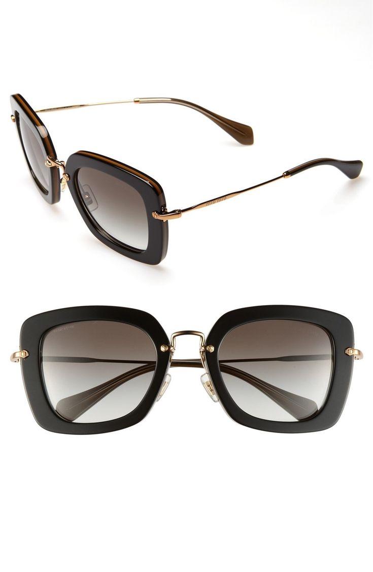Miu Miu 60mm Rimless Retro Sunglasses