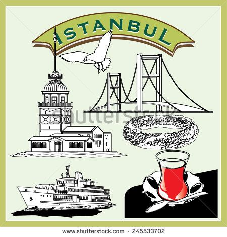 Vector illustration Istanbul Pictogram Set