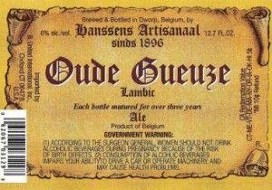 Label for Hanssens Oude Gueuze