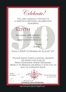 The 25 best 90th birthday invitations ideas on Pinterest 80th