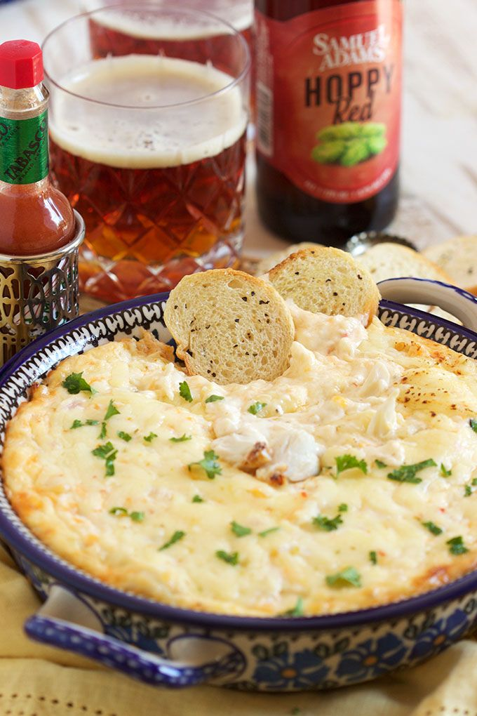 Super easy to make and perfect for any party, this is the BEST Hot Crab Dip recipe ever. | TheSuburbanSoapbox.com