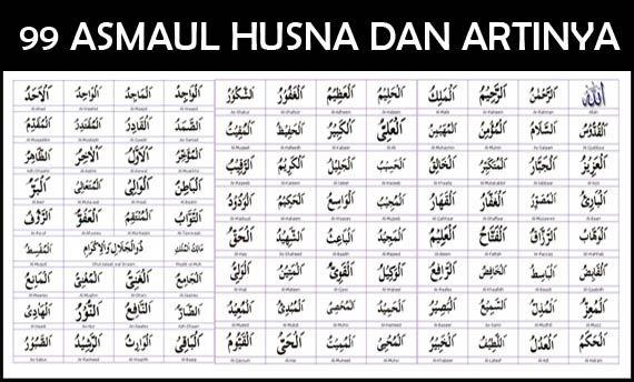 Doa Asmaul Husna Latin Dan Artinya