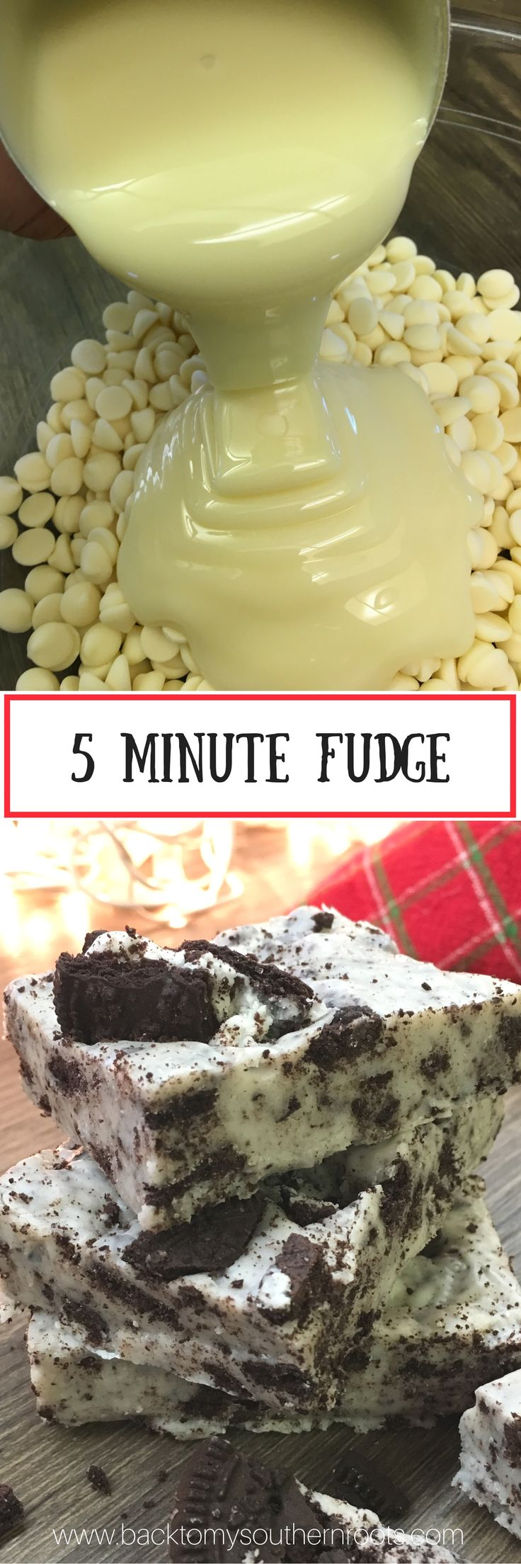 Five Minute Fudge is a quick microwave recipe that only requires three ingredients. It's a delicious holiday Christmas treat that everyone will love.