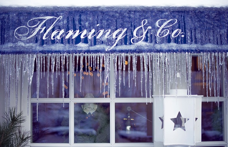 winter in Flaming Restaurant,    Warsaw, 5 Chopina street