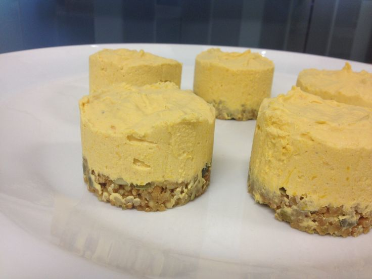 Pumpkin, nutmeg and cinnamon cheesecake on whole wheat, walnut and pumpkin seed base. Happy Mothers Day :)
