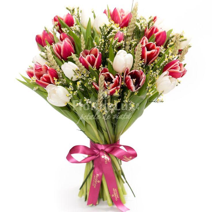 Flori de primavara minunate, in combinatii surprinzatoare, doar in cea mai buna florarie din Romania! ❤ #floridelux  ❤ Livrare flori de primavara oriunde: https://www.floridelux.ro/buchete-flori/buchete-de-flori-de-primavara/