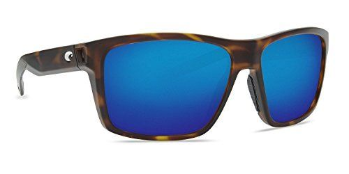 8385dc3c44 Costa 580P Slack Tide Sunglasses Matte Tortoise Frame Blue Mirror Lens  Large Fit