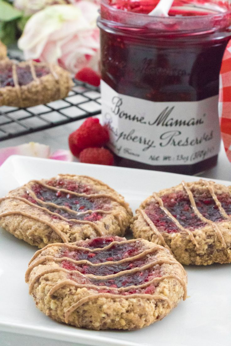 Gluten Free Raspberry Thumbprint Cookies