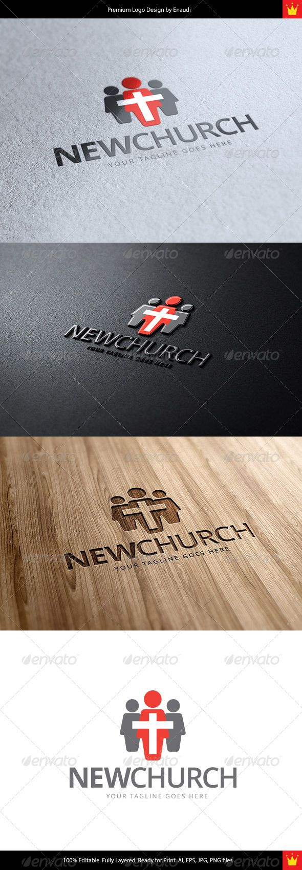 New Church Logo - Objects Logo Templates
