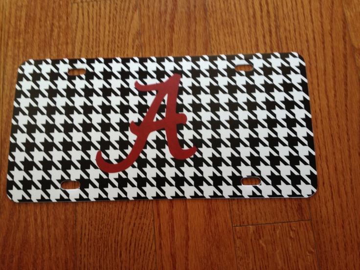 Alabama Car Tag by Hughesjc702 on Etsy, $13.50