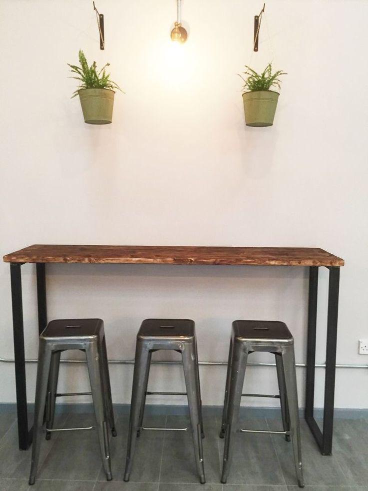 Breakfast Bar Table Bistro Poseur Reclaimed Wood