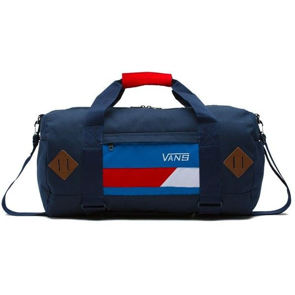 Vans Anacapa Duffle Bag (140 BRL) ❤ liked on Polyvore featuring men's fashion, men's bags, white and men's duffel bags