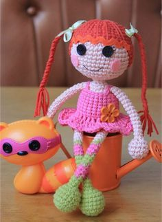 Crochet lalaloopsy muñeca amigurumi patrón gratis