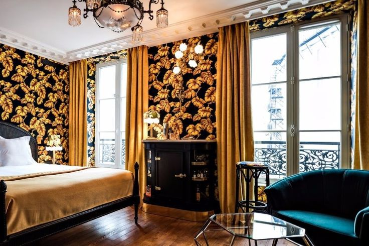 An outstanding hotel in romantic Paris! / luxurious hotel, modern chairs, hotel furniture / #paris #wheretostayinparis #luxuryfurniture / See more : http://www.designcontract.eu/hospitality/stunning-boutique-hotels-lovely-paris/?preview_id=10108&preview_nonce=2d6fcfd483&post_format=standard&_thumbnail_id=10127&preview=true