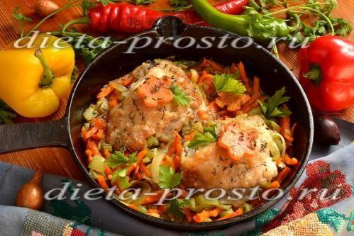 Рецепт жареной курицы с сельдереем и морковкой по Дюкану. 2-4 этапы диеты
