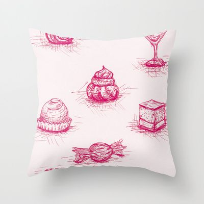 Sweet Throw Pillow by Fru Kuhari - $20.00