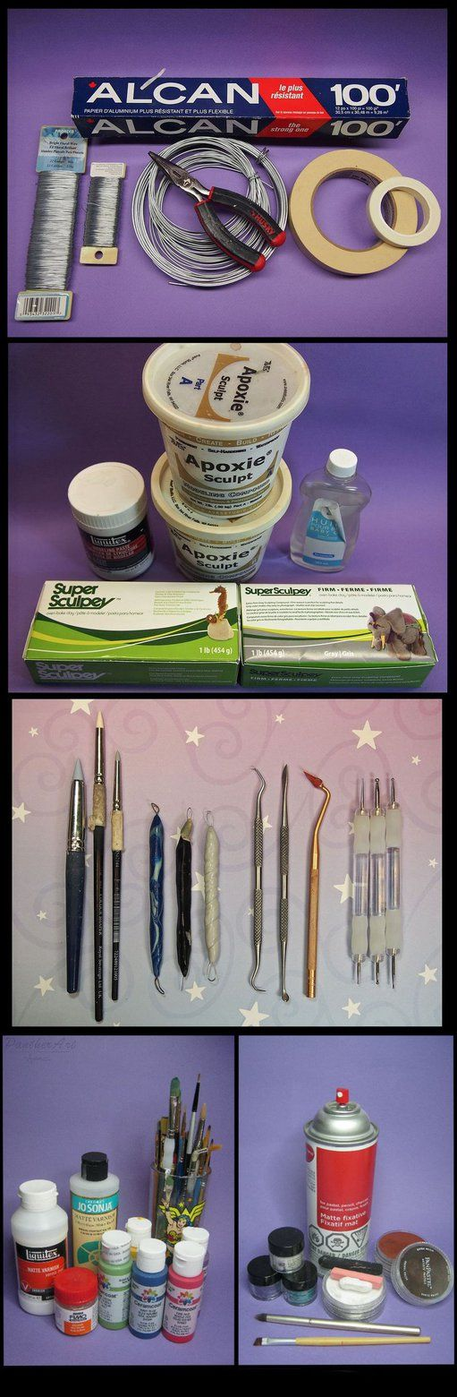 Sculpting tools for Super Sculpey tutorialby sculptor101 The following description is really long, you may skip if you are happy with what you have, you are an expert, you don't have time or n...
