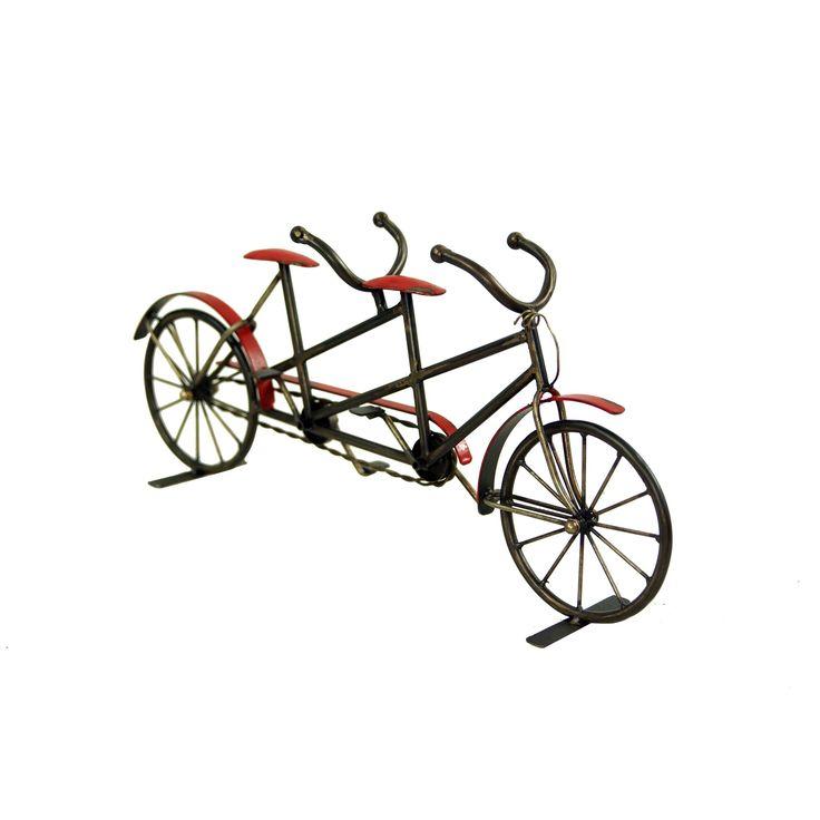 Vintage Freestanding Metal Tandem Bicycle 19-1/2-in