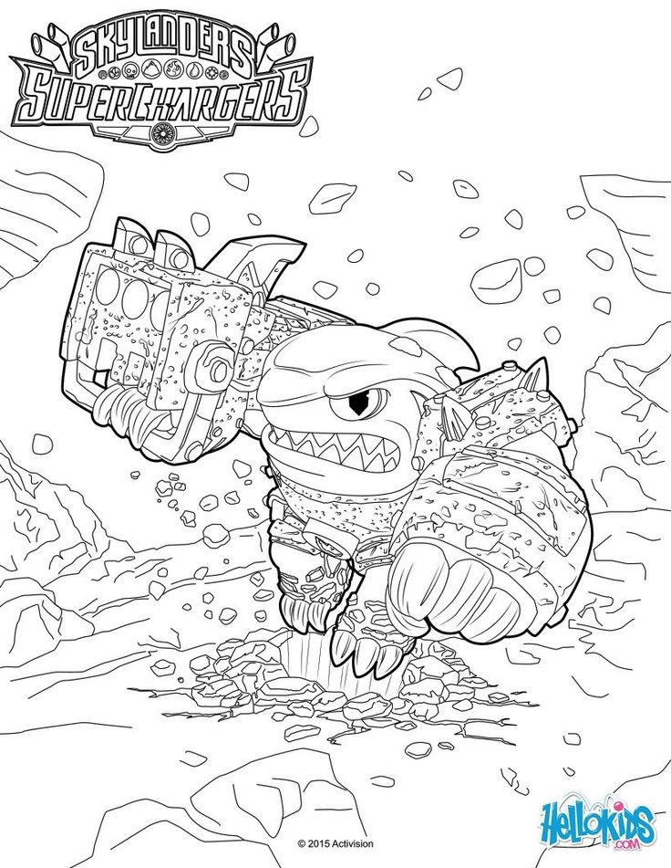 terrafin coloring page the hellokids members who have chosen this terrafin coloring page love also skylanders superchargers coloring pages