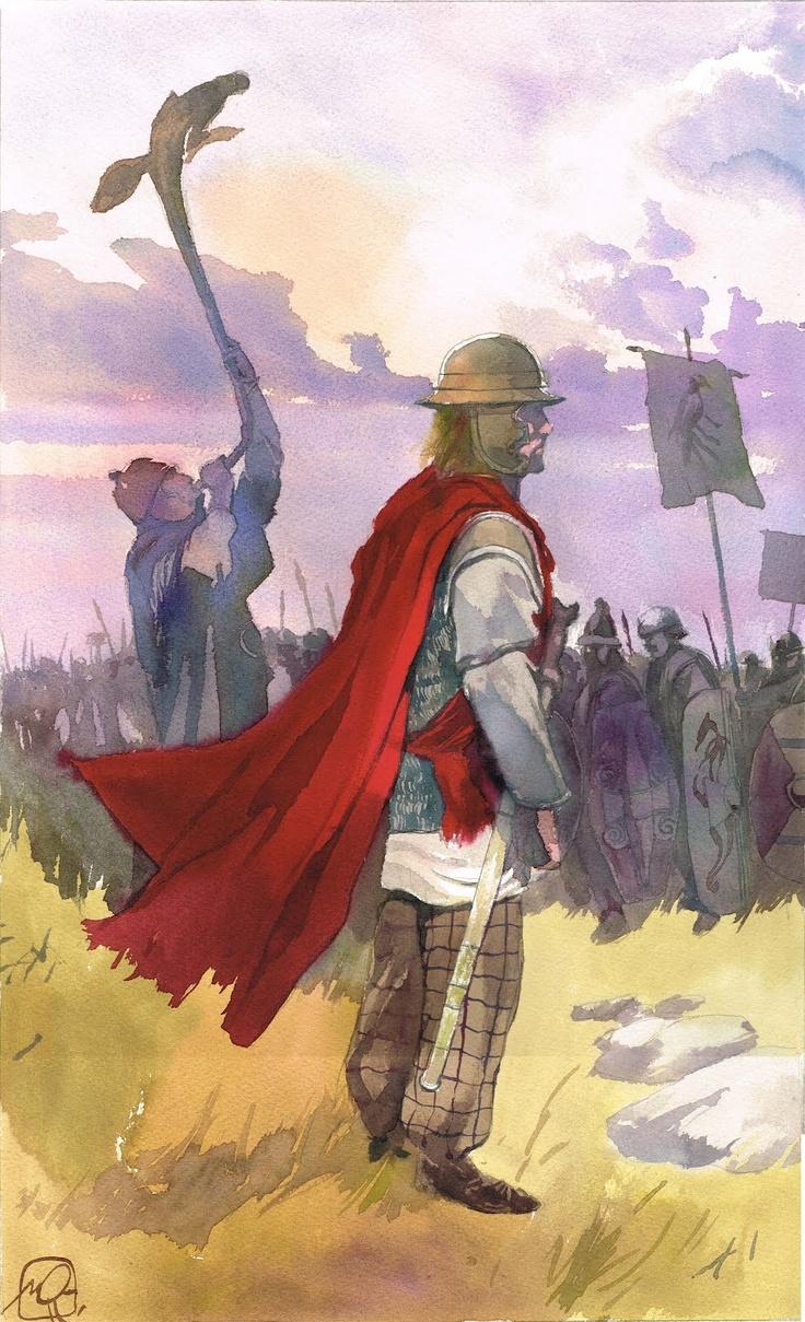 La guerre des Gaules: Guerriers celtes - illustration inédite