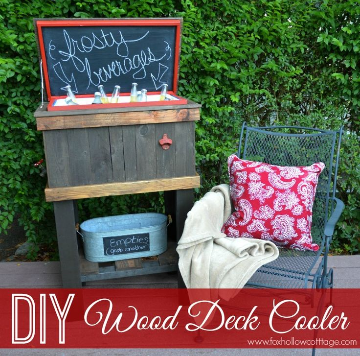 DIY Wood Deck Cooler How-To Tutorial foxhollowcottage.com #thehomedepot #3MPartner #ad