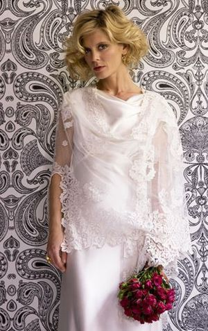 British Actress Emilia Fox, modelling a design for Kate Halfpenny, of Halfpenny London...