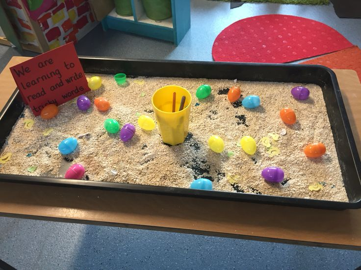 Easter - tricky words in eggs