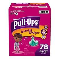 Huggies Pull-Ups Training Pants for Girls, Size 4T-5T (38-50 lbs.), 78 ct.