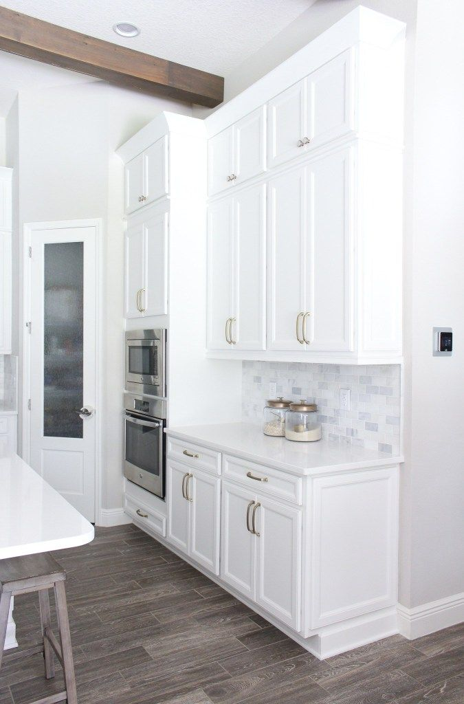 DIY Stacked Kitchen Cabinets | Glass kitchen cabinet doors ...