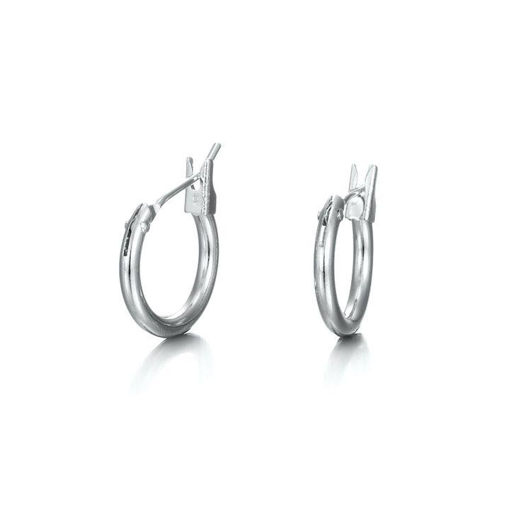 White Gold Layered Child Hoop Earring | Allure Gold