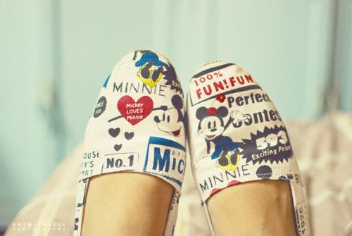 (7) Tumblr: Disney Shoes, Mickey Shoes, Mickey Mouse, Disney Clothing, Minnie Mouse, Mouse Toms, Toms Shoes, Things Disney, Disney Toms