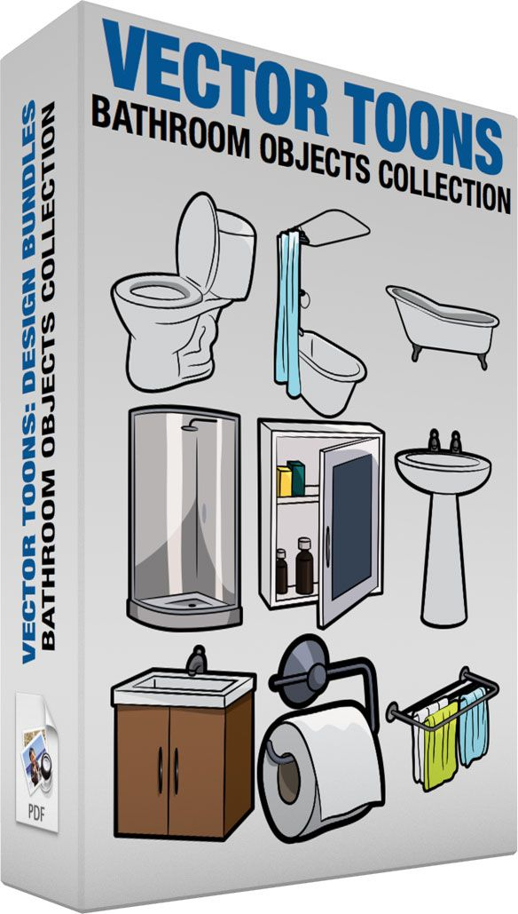 Bathroom Objects Collection Cartoon Clipart Clip Art Cartoon