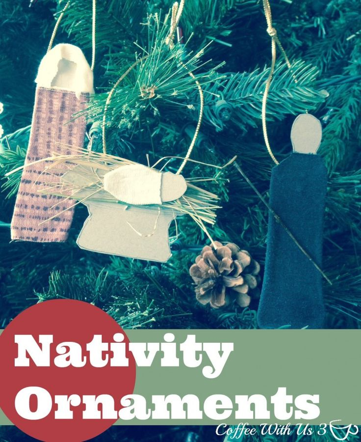 Simple Nativity Ornament Craft for Kids - Coffee With Us 3