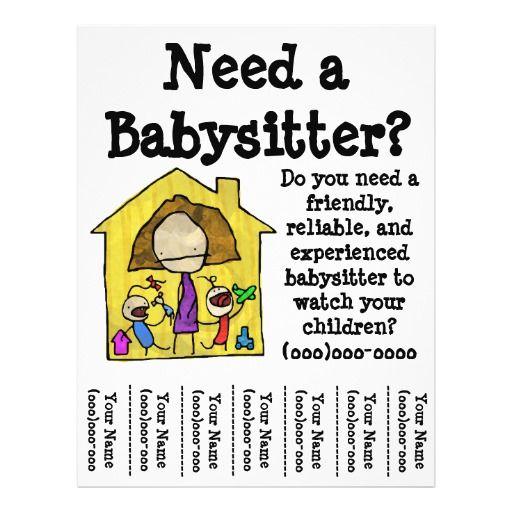11 best Babysitting flyers images on Pinterest Babysitting - babysitting flyer template