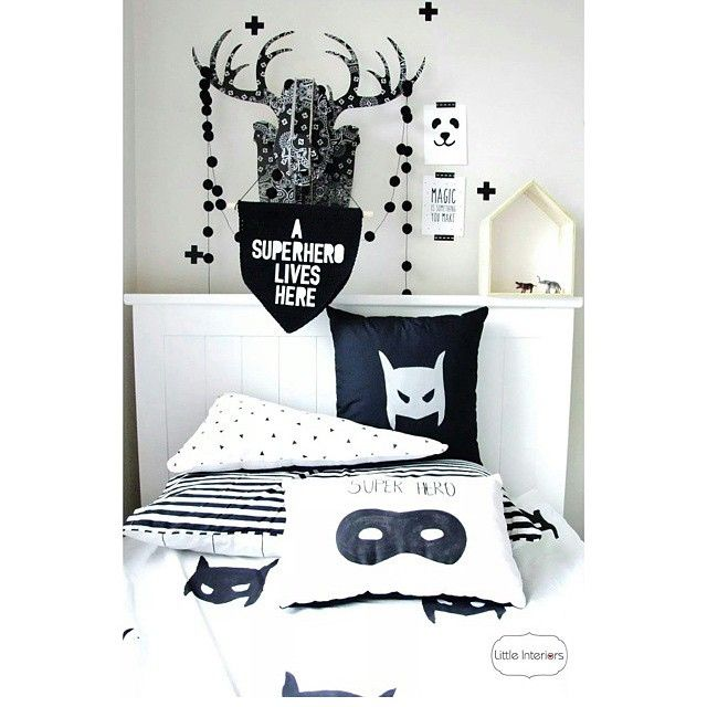 feedback - monochrome - boy's bedroom - children's interior design - superhero - batman - superhero - alijoykids