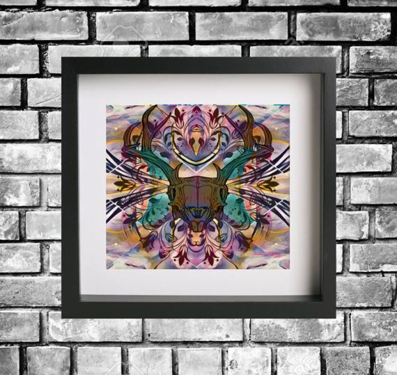 Hey, I found this really awesome Etsy listing at https://www.etsy.com/au/listing/517090899/original-psychedelic-abstract-skull