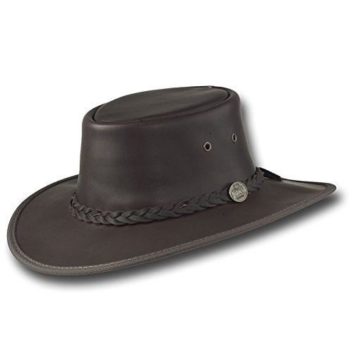 Barmah cowboy western Hats Squashy Fullgrain Leather Hat - Dark Brown - Xlarge ** To view further for this item, visit the image link.