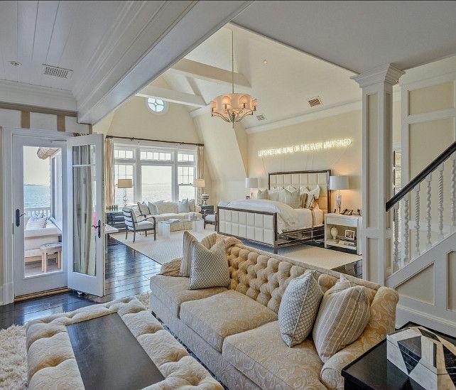 Bedroom. The bedroom in this Hampton's home is amazing. Best design! #Bedroom #BedroomDesign