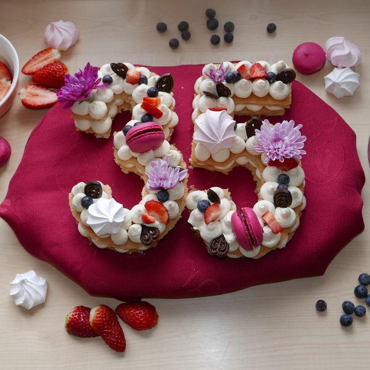 My Anniversary Number Cake - Number (Letter) Cake & Gluten-Free Cake Recipe | Gluten-Free, Nut-Free, Dairy-Free Cake
