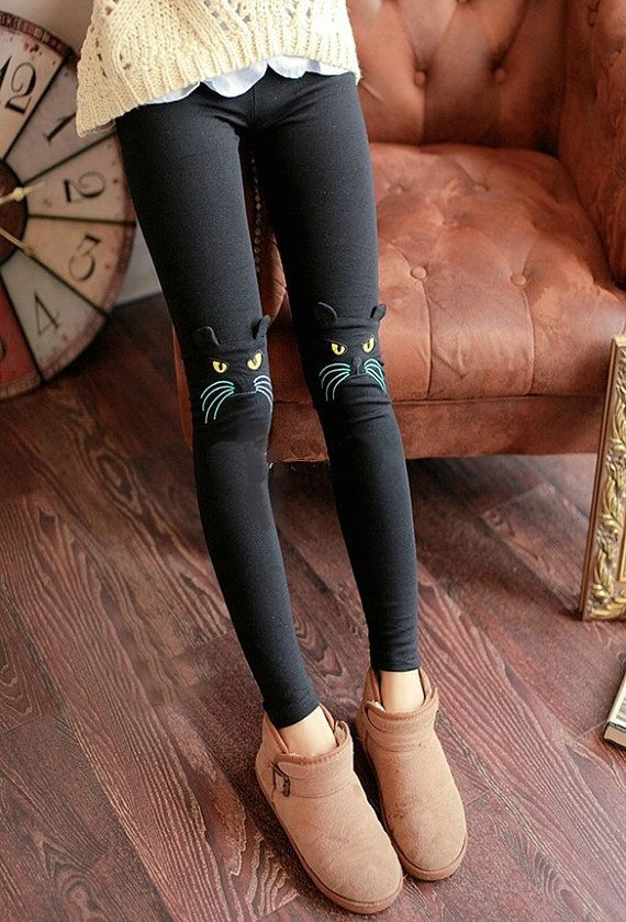 Leggings Footless Tights Hello Kitty Cat Porn by swankyturtle