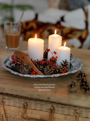 candle plate w/ berries